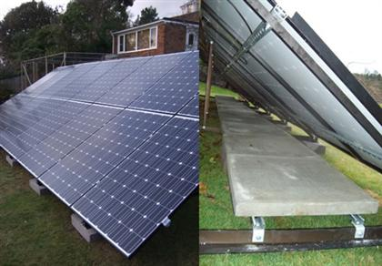 Frame mounted 4kW Domestic Solar PV system